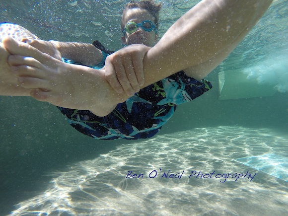 Little Boy Underwater | GoPro Image | Breckenridge, Colorado